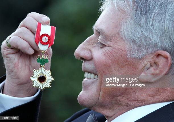 George Kerr with the Order of the Rising Sun one of Japan's highest honours which he was awarded during a ceremony at the official residency of the...