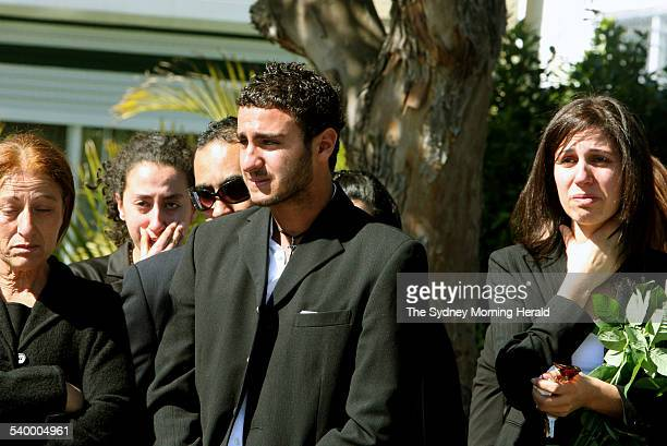 George Khouzame boyfriend of Jehan Nassif at her funeral She died of meningococcal disease in Bankstown Hospital 22 August 2006 SMH Picture by...