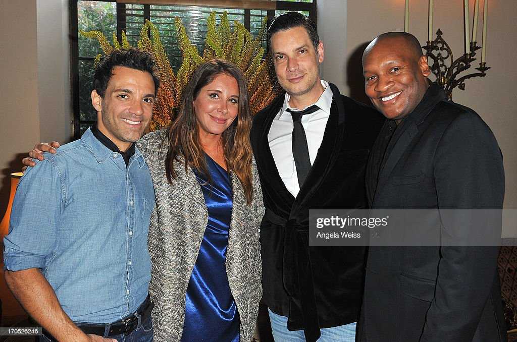 George Kotsiopoulos, Jen Egan, Cameron Silver and Marcellas Reynolds attend Lucky Brand's Measure of Style Dinner at Chateau Marmont on June 13, 2013 in Los Angeles, California.