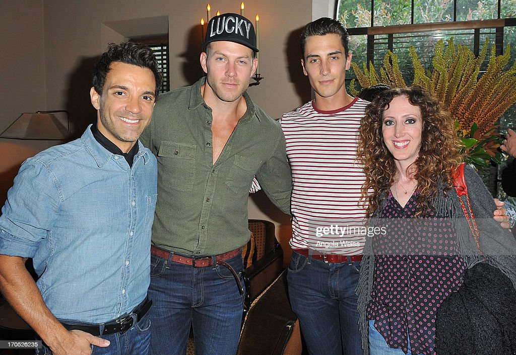 George Kotsiopoulos, Johnny Wujek, Ricky Bennick and Jen Rade attend Lucky Brand's Measure of Style Dinner at Chateau Marmont on June 13, 2013 in Los Angeles, California.