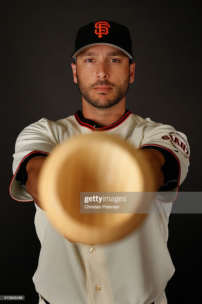 George Kottaras of the San Francisco Giants poses for a portrait during spring training photo day at Scottsdale Stadium on February 28, 2016 in Scottsdale, Arizona.