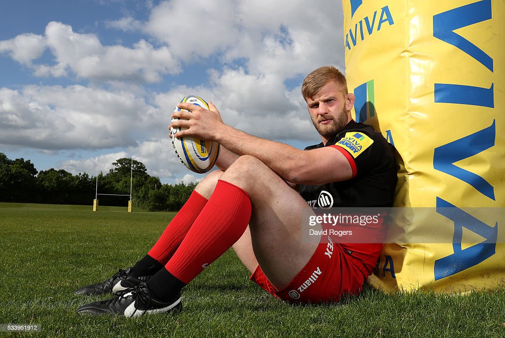 George Kruis of Saracens poses during the Saracens media session held on May 24, 2016 in St Albans, England.