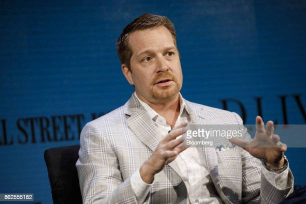 George Kurtz cofounder and chief executive officer of Crowdstrike Inc speaks during the Wall Street Journal DLive global technology conference in...