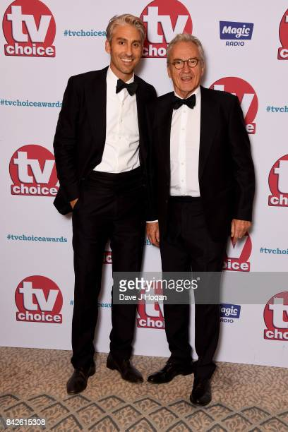 George Lamb and Larry Lamb arrive at the TV Choice Awards at The Dorchester on September 4 2017 in London England