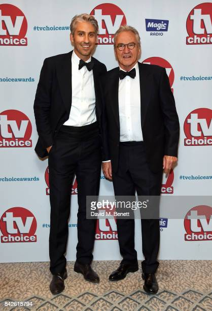 George Lamb and Larry Lamb attend the TV Choice Awards at The Dorchester on September 4 2017 in London England