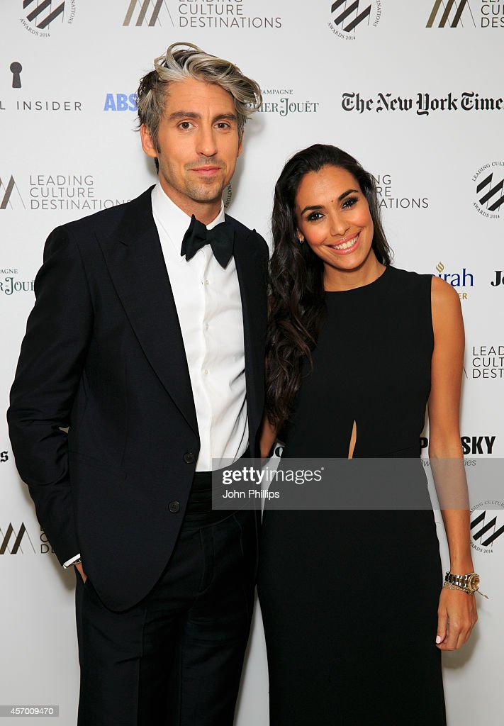 George Lamb and Mona Ibellini attend the Leading Cultural Destination awards at Jumeirah Carlton Tower on October 10 2014 in London England