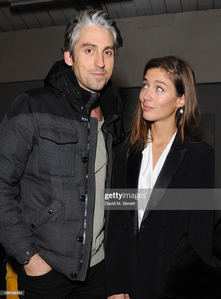 George Lamb and Quentin Jones attend the Quentin Jones Private View with Robert Storey at The Vinyl Factory Gallery on November 18 2014 in London...