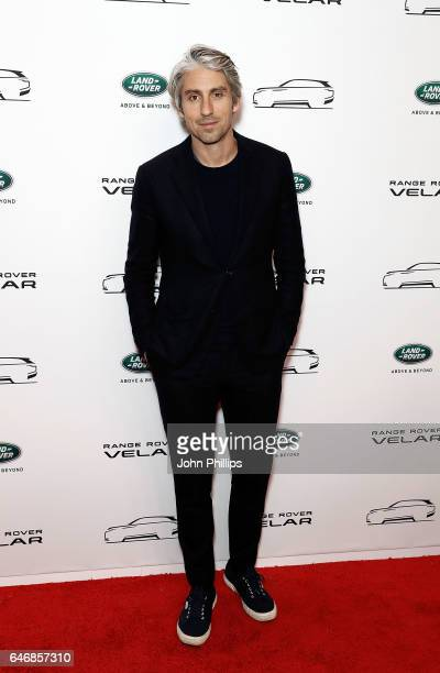 George Lamb arrives at the launch of the New Range Rover Velar on March 1 2017 in London United Kingdom
