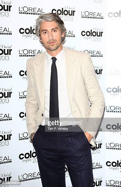 George Lamb arrives the L'Oreal Colour Trophy Awards 2013 at Grosvenor House on June 3 2013 in London England