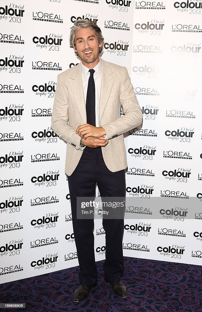 <a gi-track='captionPersonalityLinkClicked' href=/galleries/search?phrase=George+Lamb&family=editorial&specificpeople=2011003 ng-click='$event.stopPropagation()'>George Lamb</a> arrives the L'Oreal Colour Trophy Awards 2013 at Grosvenor House, on June 3, 2013 in London, England.