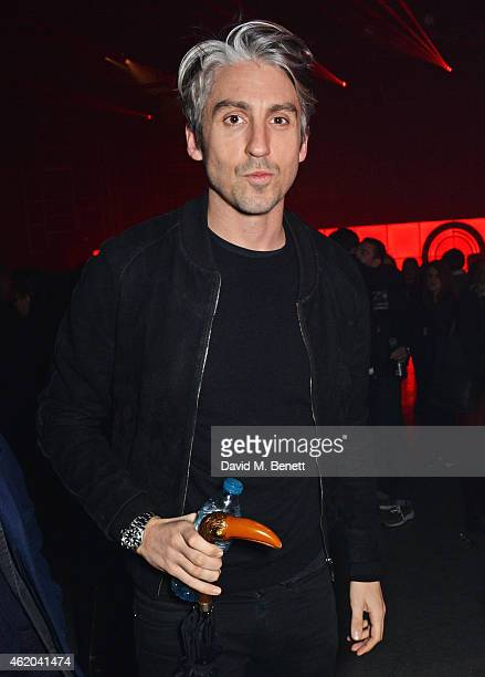 George Lamb attends as Mark Ronson hosts a party to celebrate the launch of his new album 'Uptown Special' at Television Centre White City on January...
