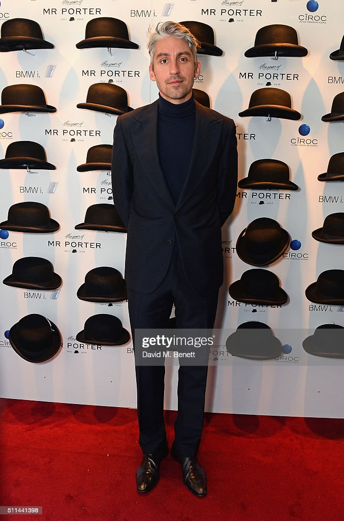 George Lamb attends Mr Porter's fifth birthday celebration at The Savile Club on February 20 2016 in London England