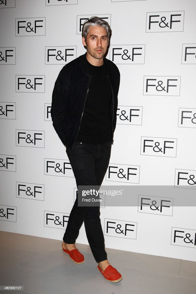<a gi-track='captionPersonalityLinkClicked' href=/galleries/search?phrase=George+Lamb&family=editorial&specificpeople=2011003 ng-click='$event.stopPropagation()'>George Lamb</a> attends the F&F aw14 Fashion show at Somerset House on April 3, 2014 in London, England.