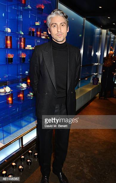 George Lamb attends the GQ London Collections Men AW15 closing dinner at Hakkasan Hanway Place on January 12 2015 in London England