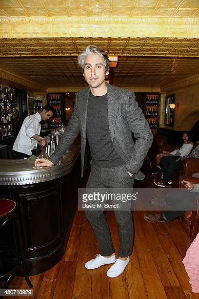 George Lamb attends the Kiehl's private dinner to celebrate Kiehl's most iconic products at Balthazar Restaurant on March 26 2014 in London England