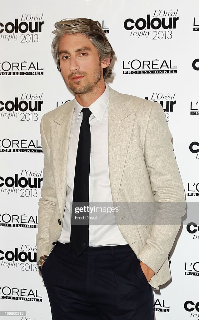 George Lamb attends the L'Oreal Colour Trophy Awards at Grosvenor House, on June 3, 2013 in London, England.