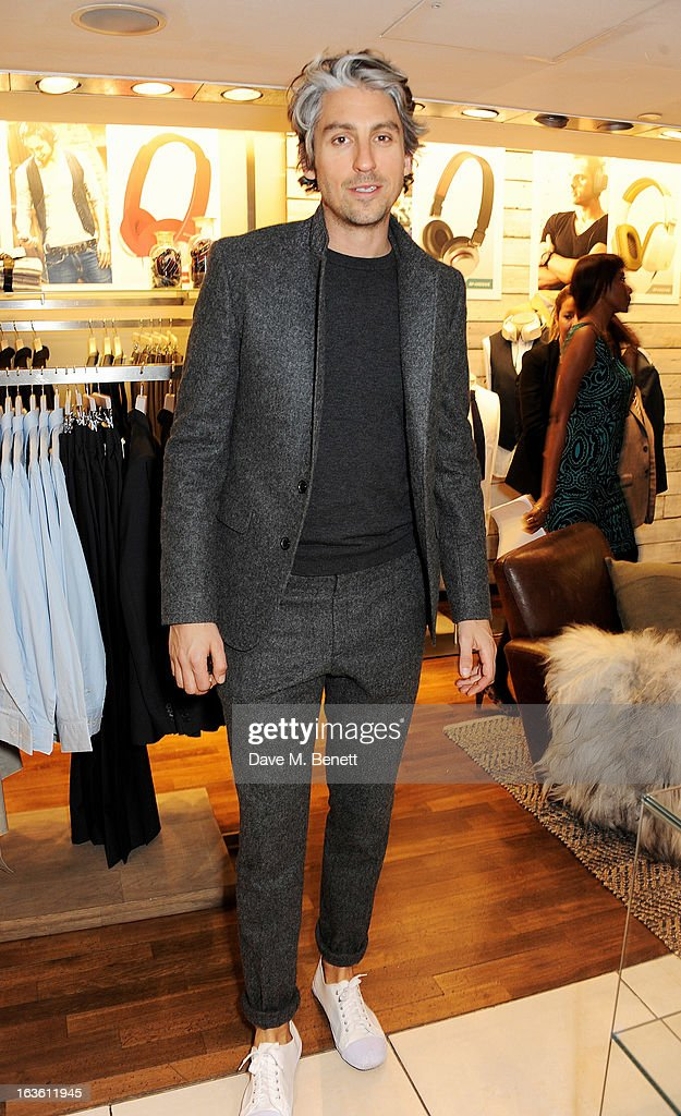 George Lamb attends the Panasonic Technics 'Shop To The Beat' Party which he hosted at French Connection Oxford Circus on March 13 2013 in London...