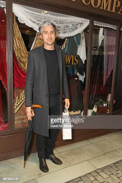 George Lamb attends the preview party of John Lewis's 'Stories of a Shopkeeper' exhibition at the John Lewis Oxford Street Store on May 1 2014 in...
