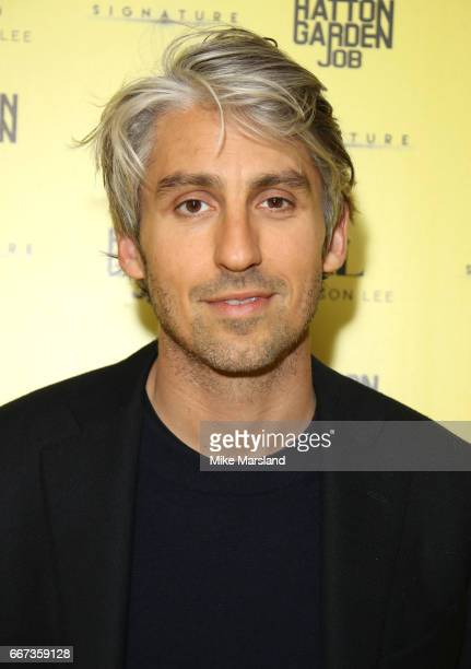 George Lamb attends the World Premiere of 'The Hatton Garden Job' at Curzon Soho on April 11 2017 in London England