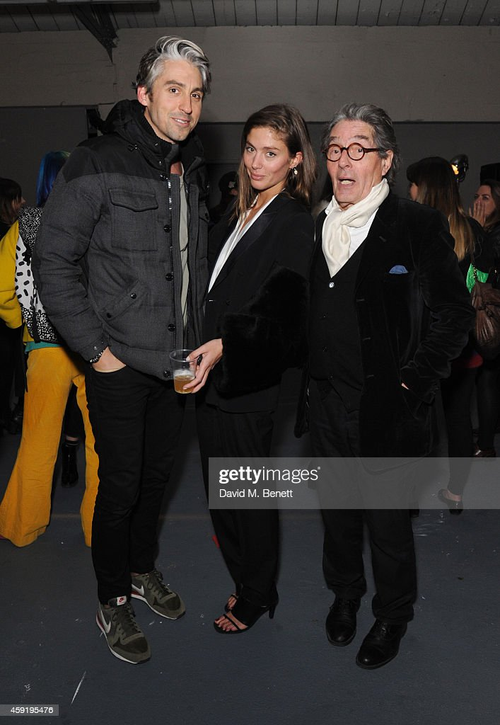 George Lamb Quentin Jones and Edward Jones attend the Quentin Jones Private View with Robert Storey at The Vinyl Factory Gallery on November 18 2014...