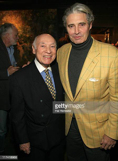 George Lang and Michael Nouri during A Lunch in Celebration of 'Breaking and Entering' at CAFE DES ARTISTES in New York City New York United States