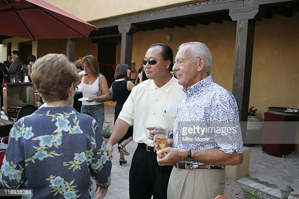 George Lee the President and COO of the Kabuto Arizona properties owners of the Wigwam Resort visits with guests during the Grand Opening Of the...