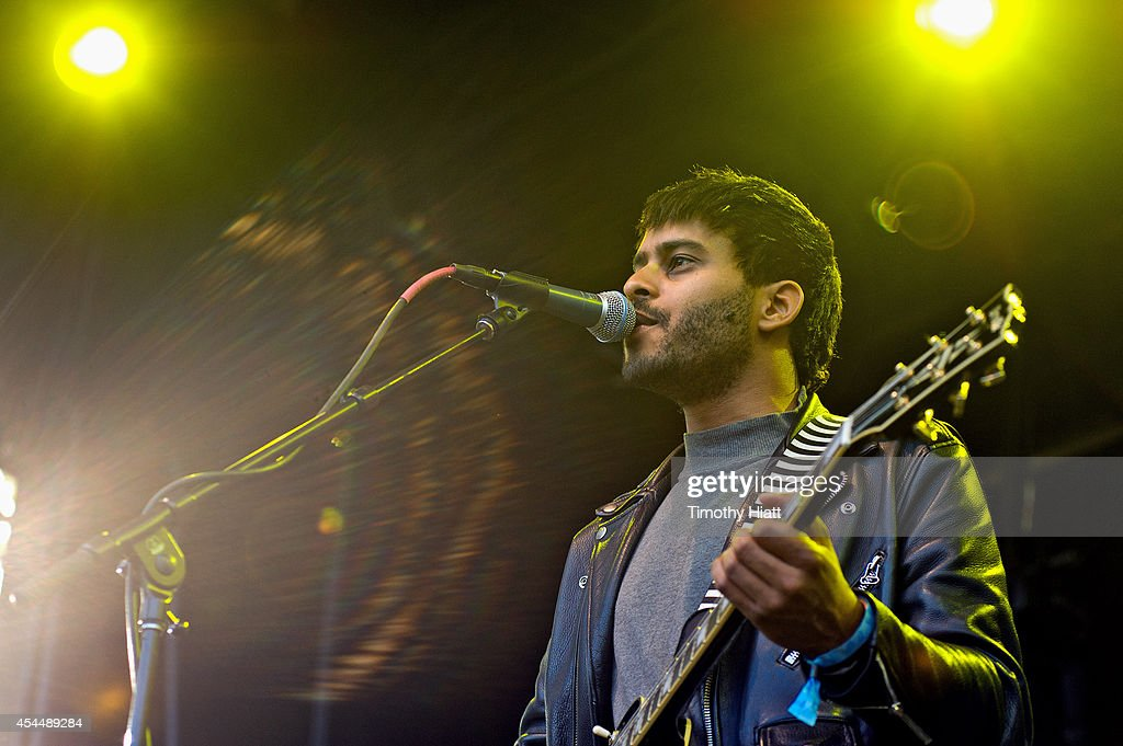 George Lewis Jr. of Twin Shadow performs on day three of the Bumbershoot Music and Arts Festival September 1, 2014 in Seattle, Washington.