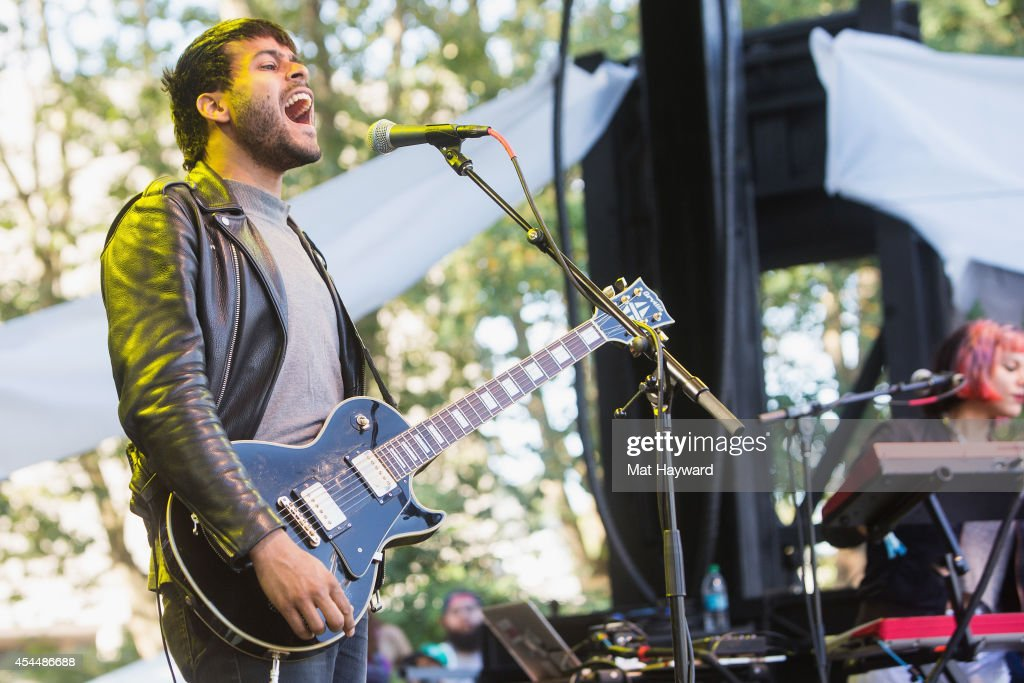 George Lewis Jr. of Twin Shadow performs on the Fountain Lawn stage during the Bumbershoot Music and Arts Festival on September 1, 2014 in Seattle, Washington.