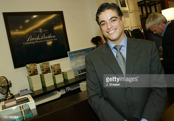 George Longoria Brooks Brothers Store Manager during Brooks Brothers 185th Anniversary Party in San Francisco in San Francisco California United...
