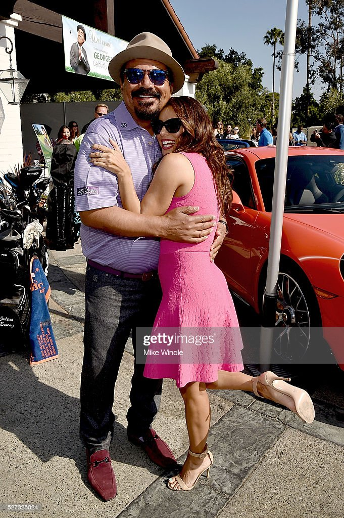 George Lopez and actress Eva Longoria attends the 9th Annual George Lopez Celebrity Golf Classic to benefit The George Lopez Foundation at Lakeside...