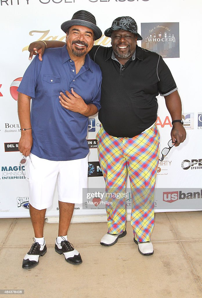 <a gi-track='captionPersonalityLinkClicked' href=/galleries/search?phrase=George+Lopez&family=editorial&specificpeople=202546 ng-click='$event.stopPropagation()'>George Lopez</a> and Cedric 'The Entertainer' arrive at the 3rd Annual Celebrity Golf Classic hosted by Cedric 'The Entertainer' at Spanish Hills Country Club on August 17, 2015 in Camarillo, California.