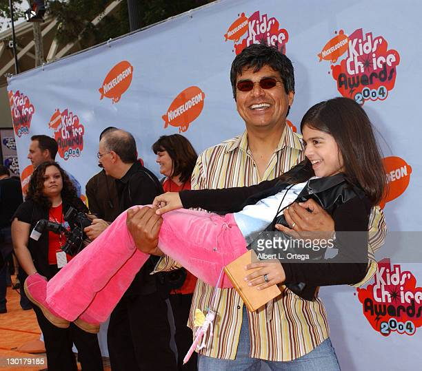 George Lopez and daughter Mayan during Nickelodeon's 17th Annual Kids' Choice Awards Arrivals at Pauley Pavillion in Westwood California United States