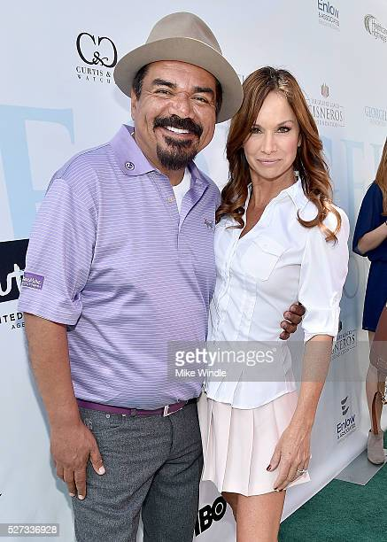 George Lopez and Debbe Dunning attend the 9th Annual George Lopez Celebrity Golf Classic to benefit The George Lopez Foundation at Lakeside Golf Club...
