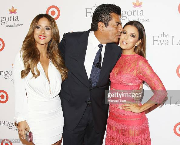 George Lopez and Eva Longoria arrive at The Eva Longoria Foundation Dinner held at Beso on September 28 2013 in Hollywood California