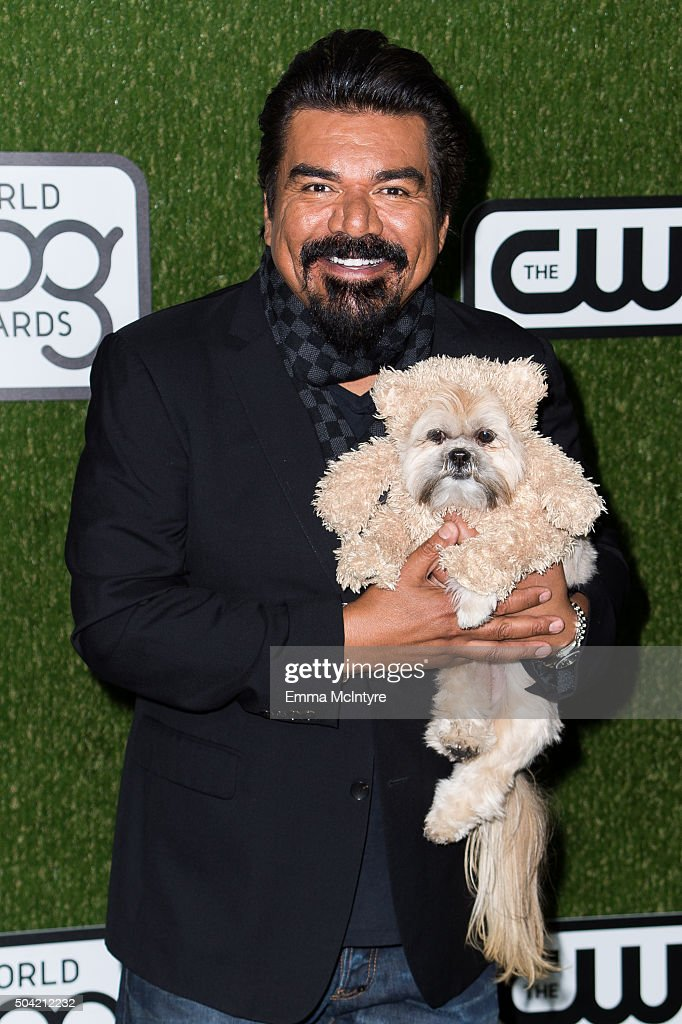 <a gi-track='captionPersonalityLinkClicked' href=/galleries/search?phrase=George+Lopez&family=editorial&specificpeople=202546 ng-click='$event.stopPropagation()'>George Lopez</a> arrives at the 2016 World Dog Awards at Barker Hangar on January 9, 2016 in Santa Monica, California.