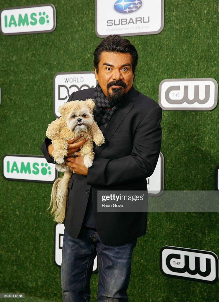 <a gi-track='captionPersonalityLinkClicked' href=/galleries/search?phrase=George+Lopez&family=editorial&specificpeople=202546 ng-click='$event.stopPropagation()'>George Lopez</a> attends the 2016 World Dog Awards at the Barker Hangar on January 9, 2016 in Santa Monica, California.