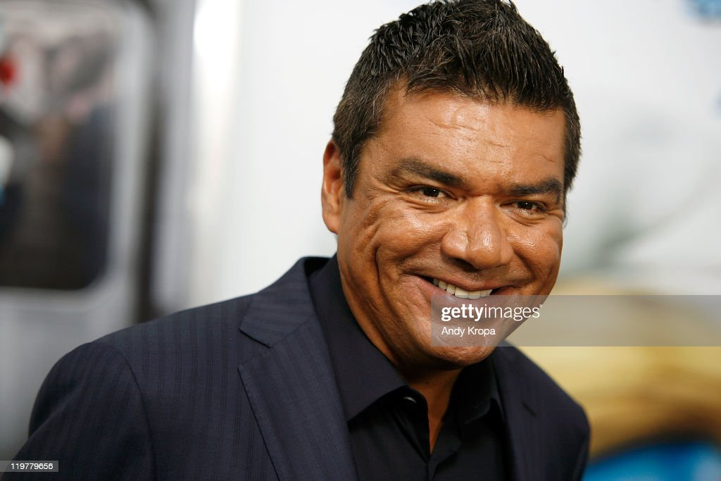 George Lopez attends the premiere of 'The Smurfs' at the Ziegfeld Theater on July 24 2011 in New York City