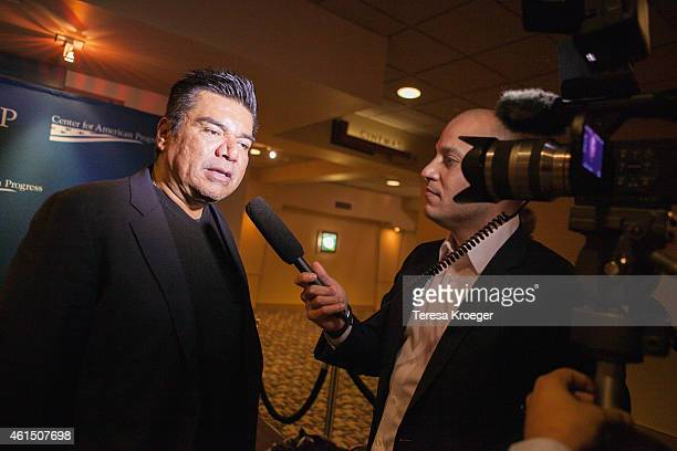 George Lopez attends the 'Spare Parts' screening at Landmark E Street Cinema on January 13 2015 in Washington DC