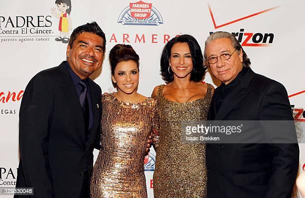 George Lopez Eva Longoria Alejandra Guzman and Edward James Olmos arrive at the Padres Contra El Cancer annual gala at Tropicana Las Vegas on October...
