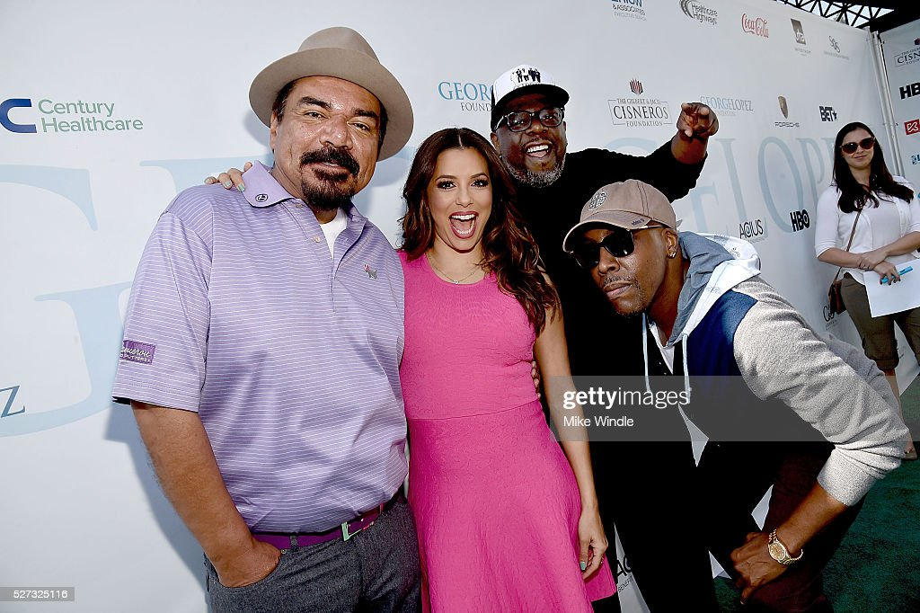 George Lopez, Eva Longoria, Cedric The Entertainer and Arensio Hall attend the 9th Annual George Lopez Celebrity Golf Classic to benefit The George Lopez Foundation at Lakeside Golf Club on May 2, 2016 in Burbank, California.