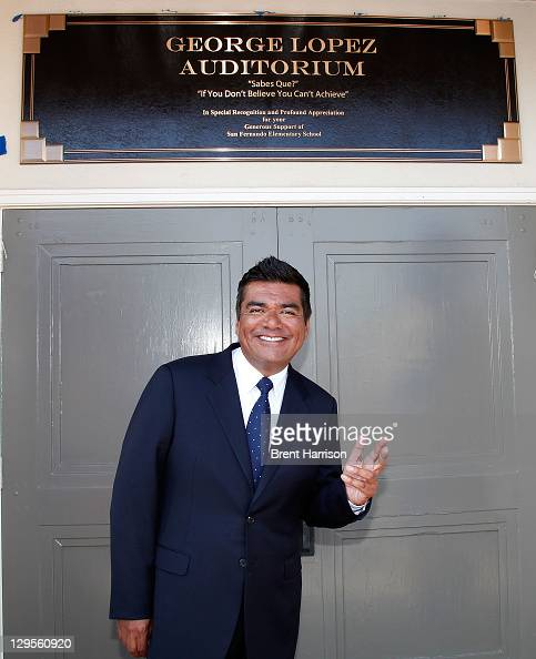 George Lopez honored at San Fernando Elementary School on October 18 2011 in San Fernando California