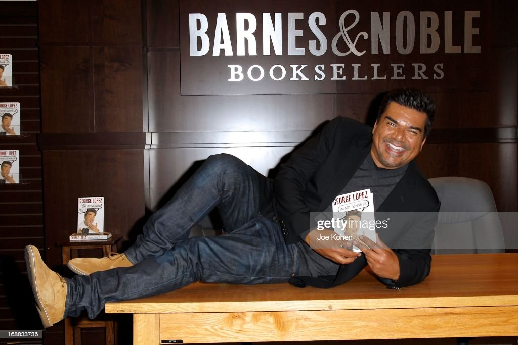 George Lopez signs copies of his new book 'I'm Not Gonna Lie' at Barnes Noble bookstore at The Grove on May 15 2013 in Los Angeles California