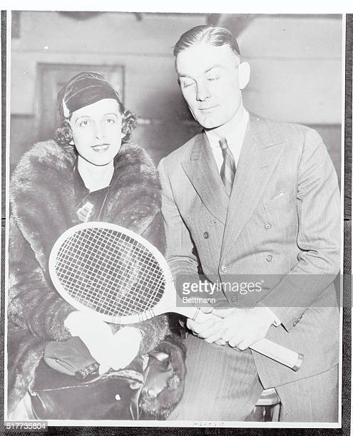 George Lott Jr the leading American tennis star recently had turned professional here as he is pictured at the Boston Garden when Lott revealed that...