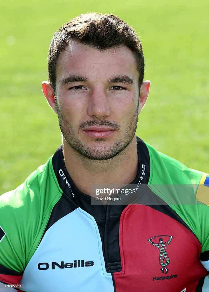 George Lowe of Harlequins poses for a portrait at the Surrey Sports Park on August 19, 2013 in Guildford, England.