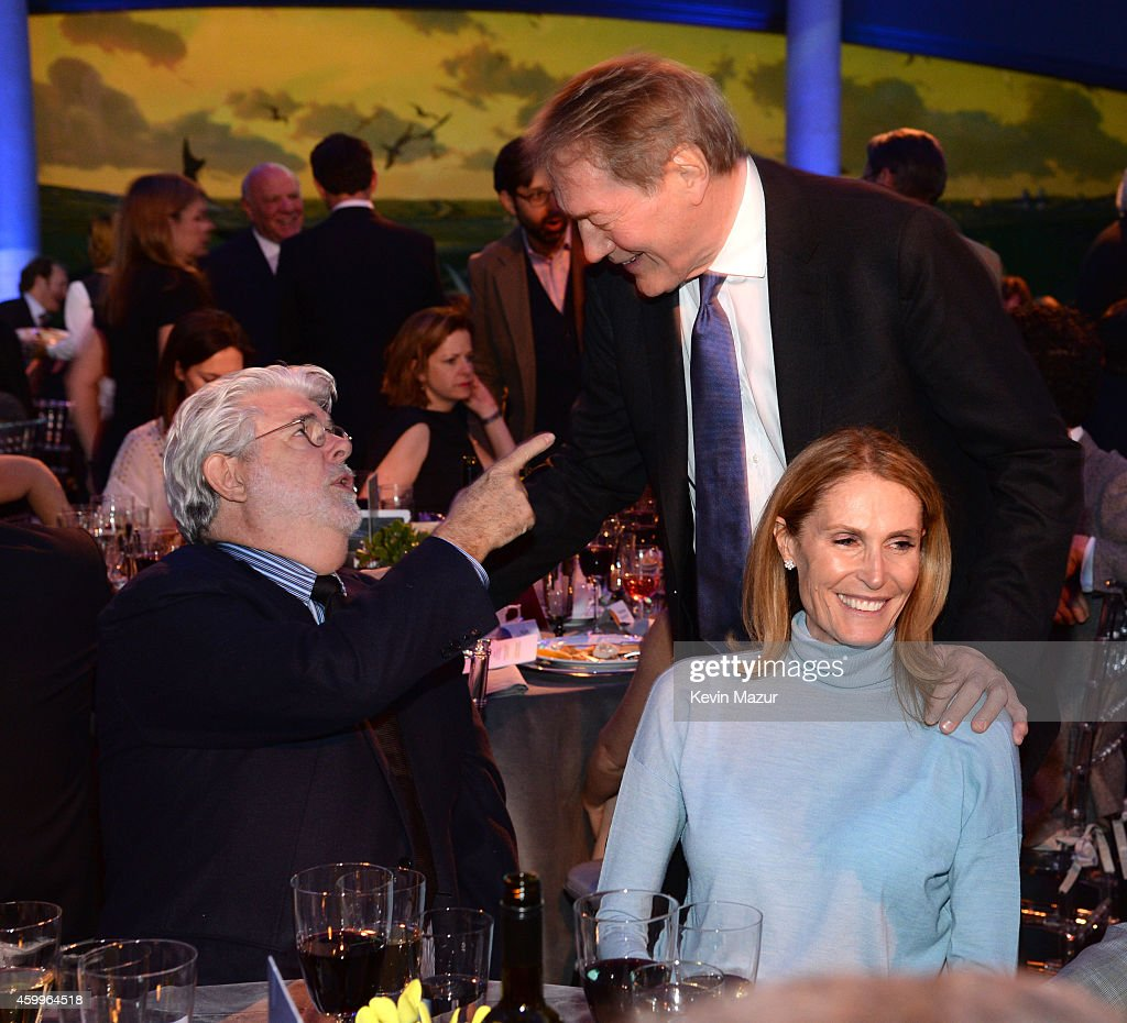 <a gi-track='captionPersonalityLinkClicked' href=/galleries/search?phrase=George+Lucas&family=editorial&specificpeople=202500 ng-click='$event.stopPropagation()'>George Lucas</a> and <a gi-track='captionPersonalityLinkClicked' href=/galleries/search?phrase=Charlie+Rose&family=editorial&specificpeople=535420 ng-click='$event.stopPropagation()'>Charlie Rose</a> attend Bloomberg Businessweek's 85th Anniversary Celebration at American Museum of Natural History on December 4, 2014 in New York City.