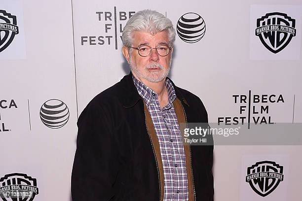 George Lucas attends 2015 Tribeca Film Festival Tribeca Talks Directors Series George Lucas with Stephen Colbert at BMCC Tribeca PAC on April 17 2015...
