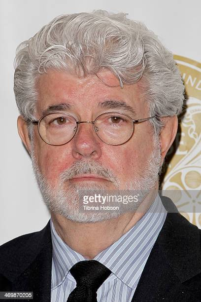 George Lucas attends the 61st motion picture sound editors 'Golden Reel' award ceremony at Westin Bonaventure Hotel on February 16 2014 in Los...