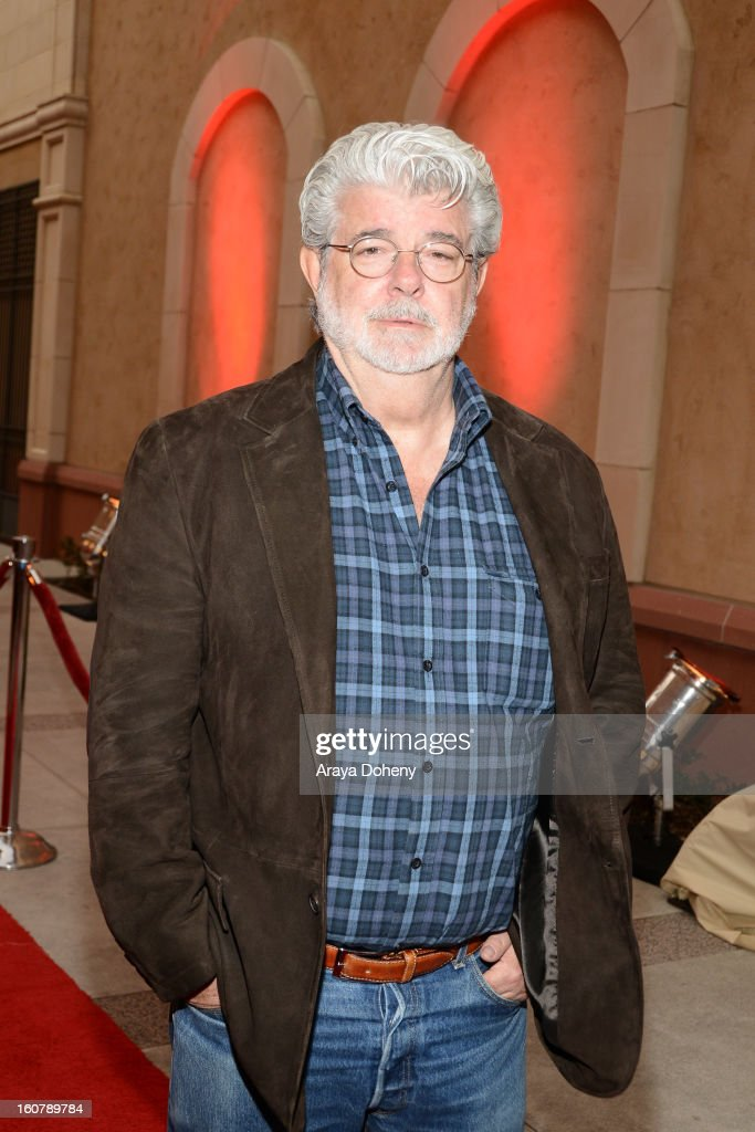 George Lucas attends the dedication of the Sumner M. Redstone Production Building at USC on February 5, 2013 in Los Angeles, California.