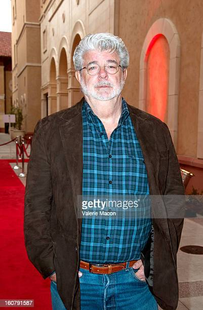 George Lucas attends the Dedication of The Sumner M Redstone Production Building at USC on February 5 2013 in Los Angeles California