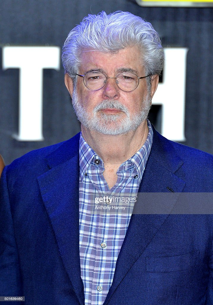 George Lucas attends the European Premiere of 'Star Wars: The Force Awakens' at Leicester Square on December 16, 2015 in London, England.